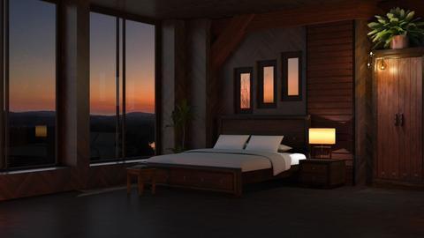 Twilight tiger bedroom - Modern - Bedroom  - by Louisa caulton
