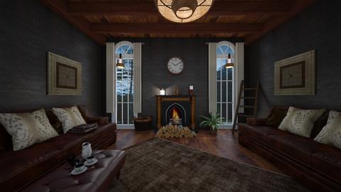 Wood - Vintage - Living room  - by bvolkov97