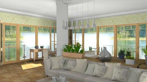 another green kitchen  - Modern - Kitchen  - by brianclough