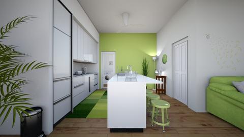 Lime Kitchen Remix - Modern - Kitchen  - by haileymilby