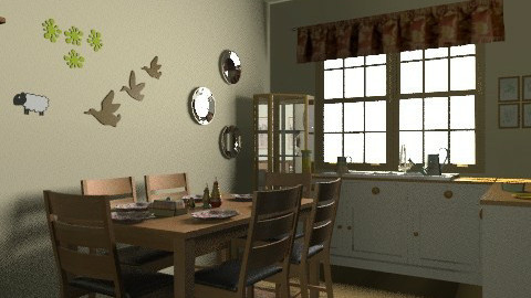 Sweet home_c - Country - Kitchen  - by milyca8