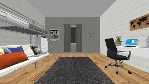 grey dorm - Modern - Bedroom  - by 00l0ps