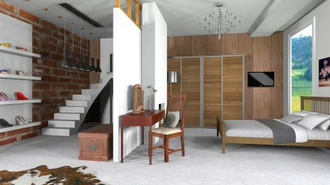 Moden bedroom  - Modern - Bedroom - by bethany81