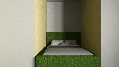 70s bedroom design - Retro - Bedroom  - by nicolecheng