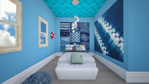 blue room - Bedroom - by jria8