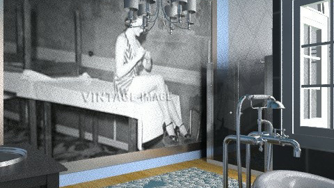 Cool Bath - Retro - Bathroom - by DiamondJ569