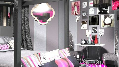 Gothic hotel room for brides and grooms. - Glamour - Bedroom - by m_mm__mikkonen