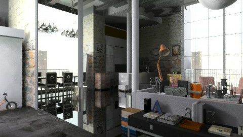 WarehouseProjekte - Eclectic - Living room  - by camilla_saurus