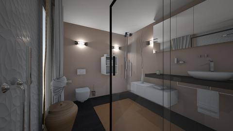 CLAU baie proiect 8 - Bathroom  - by Claudia Ilisan