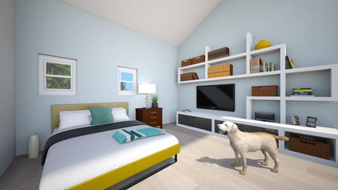 Sloped Ceiling - Bedroom  - by Lexi B