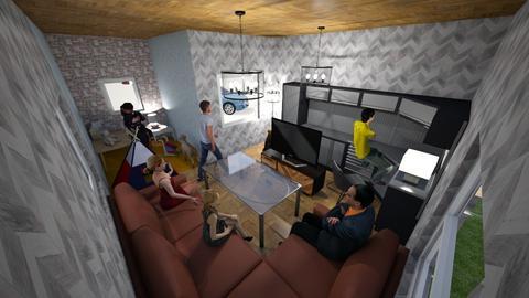 kids room and living room - Living room  - by walterravensberg
