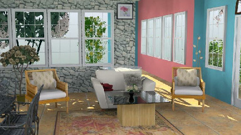 Garden Inspired Room - Rustic - Living room  - by NadhiyQing