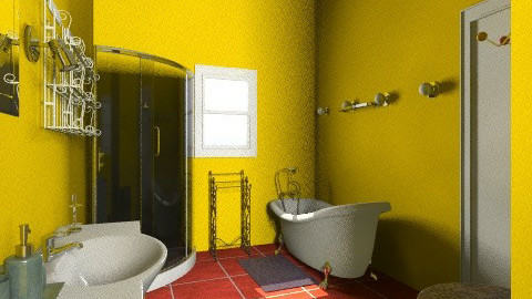 Black White and Bold - Glamour - Bathroom  - by SaraMa