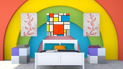 Rainbow wall - Bedroom  - by Jahsoftball_