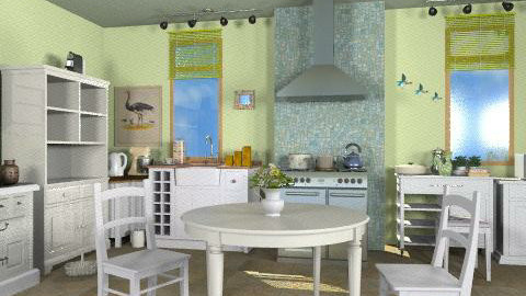 New kitchen - Rustic - Kitchen  - by milyca8