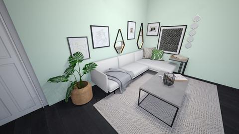 Green - Minimal - Living room - by SpookyjimKilljoy