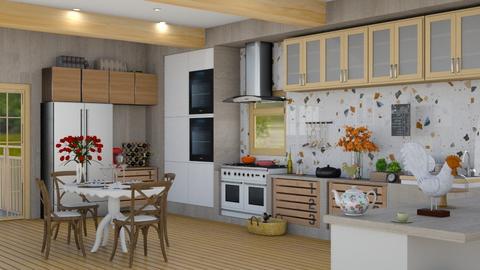 modern farrmm kitchen - Modern - Kitchen  - by vxckzz