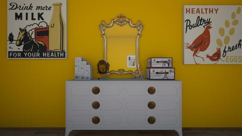 Sunflower Room - Bedroom - by KimDaNinja