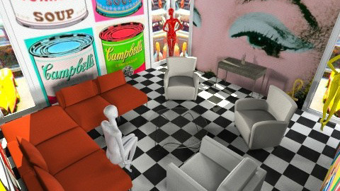 PoP Art - Retro - Living room  - by Jacquie Ru