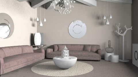 Newton Pale - Glamour - Living room  - by camilla_saurus