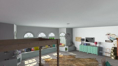 one two three - Retro - Bedroom  - by nico3
