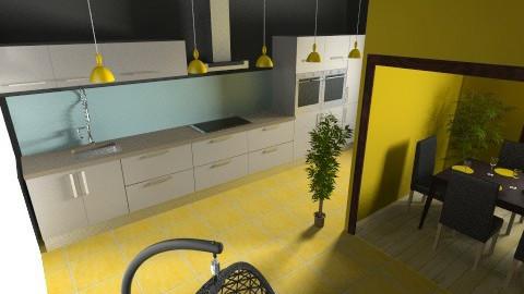 Kuchyn s jidelnou - Kitchen - by couhy26