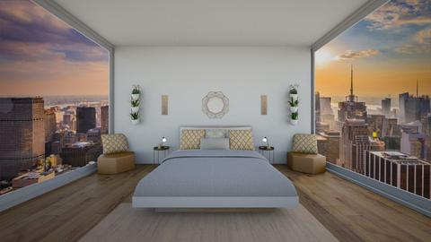 yellow simplicity  - Modern - Bedroom  - by NEVERQUITDESIGNIT