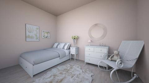 graceful wight bedroom  - Bedroom  - by Adrianna1010