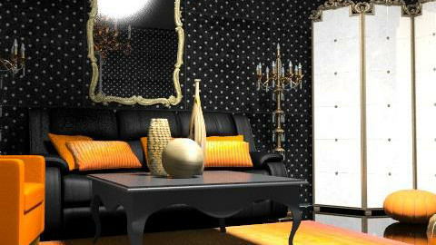 orange - Eclectic - Living room  - by chania