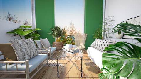 earthy spring - Living room  - by aestheticXdesigns