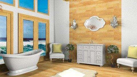 Beach Bathroom - Classic - Bathroom - by Baustin