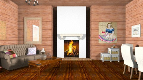 Patchwork Cabin - Country - Living room  - by HGranger2