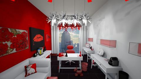 RedWhiteBlackCatLady - Modern - Office - by jade1111