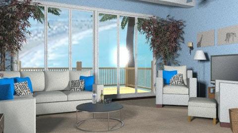 Modern Beach House II - Modern - Living room - by wwrightsc