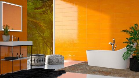 orange - Bathroom  - by Sirtzuu93