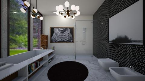 banheiro vista arvores - Bathroom  - by bruna matos