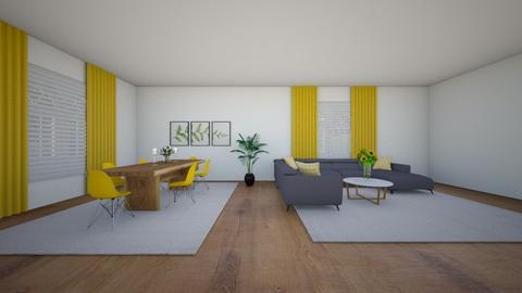 Yellow Living Room - Living room  - by Tanem_Cagla