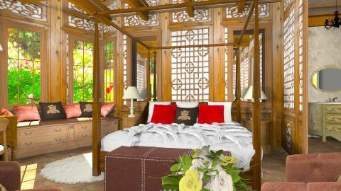Luxury hotel room - Bedroom - by XValidze