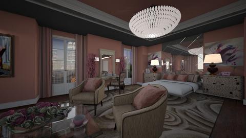 La Vie En Rose 3 - Glamour - Bedroom  - by Claudia Correia