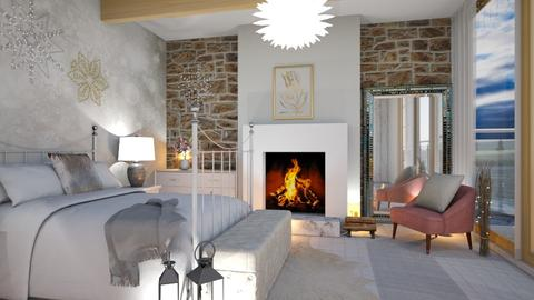 Winter bedroom - Bedroom  - by euodia