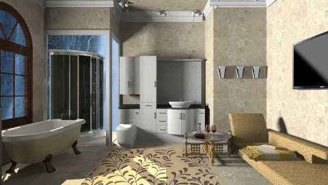 Gold Master Bathroom - Eclectic - Bathroom  - by wiljun