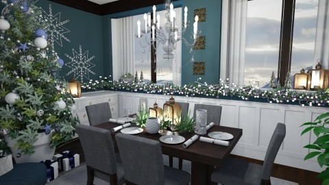 Christmas Crystal Dining - by Thea44
