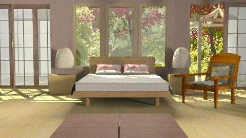 japanese bedroom2 - Minimal - Bedroom  - by liling