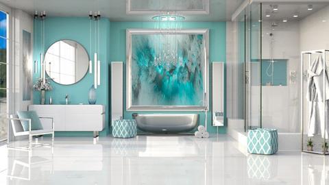 MODERN TURQUISE BATH - Modern - Bathroom  - by RS Designs