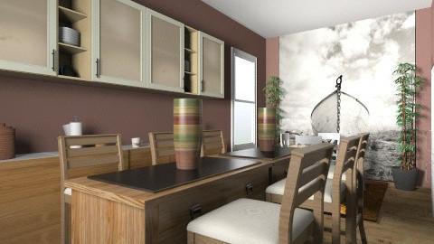 brown kitchen - Modern - Kitchen  - by andreamar
