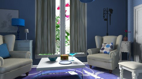 Blue stories - Rustic - Living room - by Noella Louisy