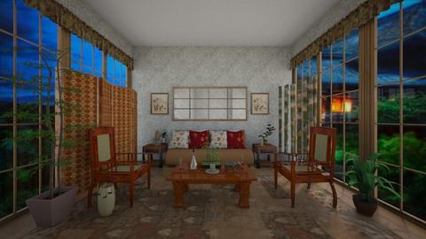 Futon - Global - Living room  - by Irishrose58