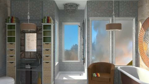 Earthy Peachy Bath - Modern - Bathroom  - by Karenina