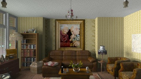 Experienced Couple - Vintage - Living room  - by kishwick