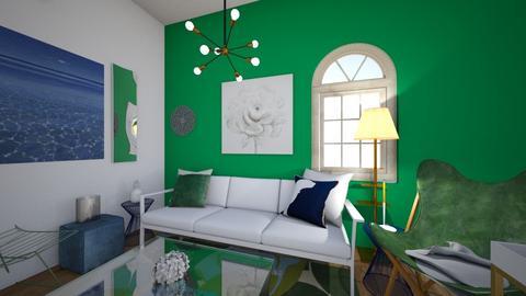 green and blue  - Living room  - by lexiiiiiii